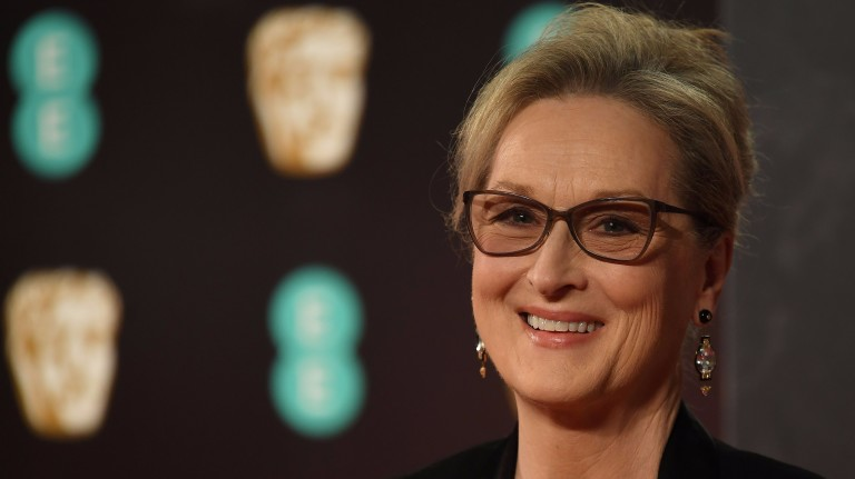 (FILES) This file photo taken on February 12, 2017 shows US actress Meryl Streep upon arrival at the BAFTA British Academy Film Awards at the Royal Albert Hall in London. Meryl Streep is demanding an