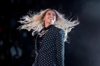 CORRECTS THAT ANNOUNCEMENT SAYS AWARDS ARE FOR FEMALE STUDENTS, NOT SPECIFICALLY BLACK FEMALE STUDENTS - FILE - In this Nov. 4, 2016, file photo, Beyonce performs at a Get Out the Vote concert for Democratic presidential candidate Hillary Clinton at the Wolstein Center in Cleveland. Beyonce marked the one-year anniversary of her album