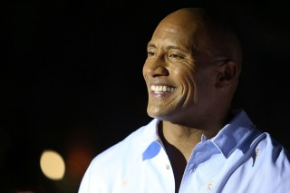 Dwayne Johnson arrives at the U.S. Premiere of