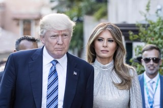 U.S. President Donald Trump an First Lady Melania arrive a concert in the Ancient Theatre of Taormina ( 3rd century BC) in the Sicilian citadel of Taormina, Italy, Friday, May 26, 2017. Leaders of the G7 meet Friday and Saturday, including newcomers Emmanuel Macron of France and Theresa May of Britain in an effort to forge a new dynamic after a year of global political turmoil amid a rise in nationalism. (Angelo Carconi/ANSA via AP) ORG XMIT: XAP102