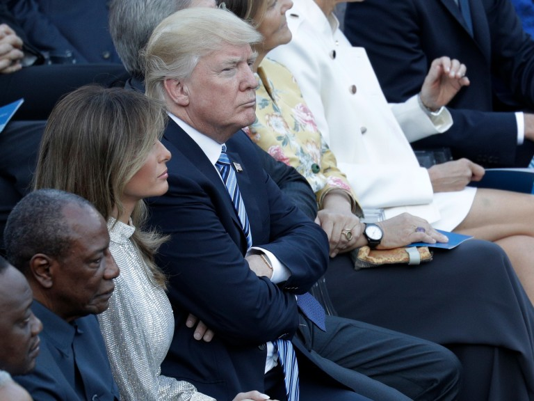 U.S. President Donald Trump an First Lady Melania attend a concert in the Ancient Theatre of Taormina ( 3rd century BC) in the Sicilian citadel of Taormina, Italy, Friday, May 26, 2017. Leaders of the