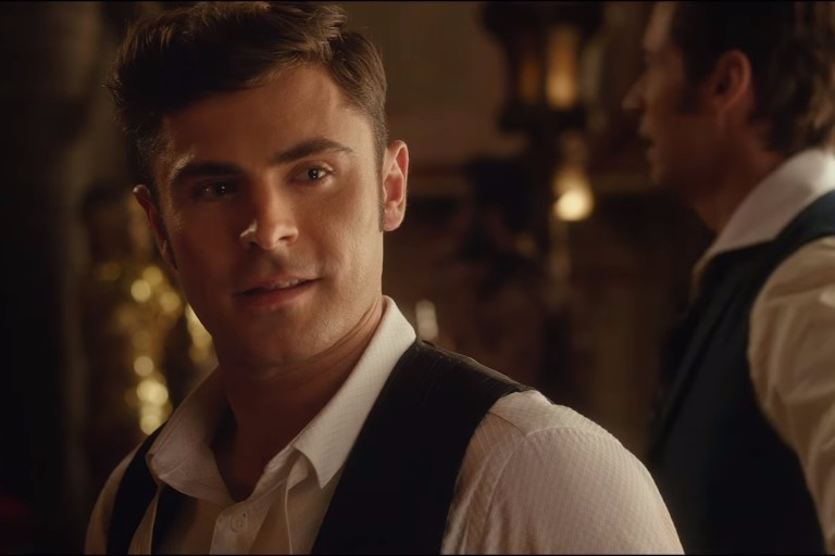 Zac Efron no filme 'O Rei do Show'