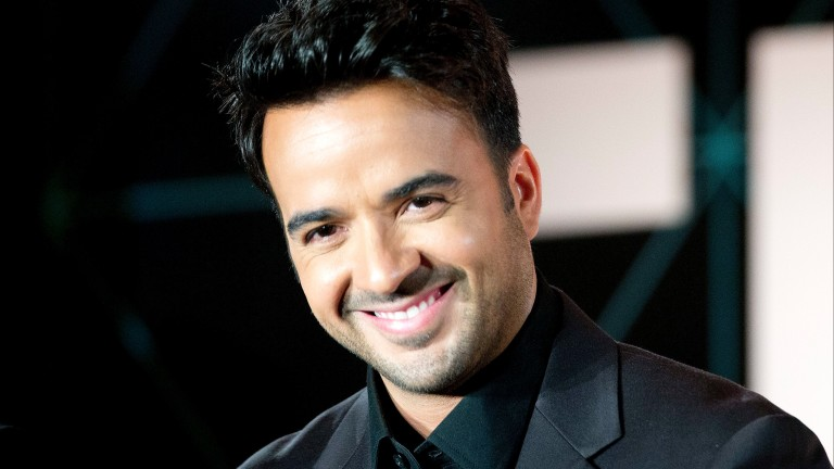 "FILE - This Aug. 27, 2014 file photo shows Luis Fonsi, a judge on a Spanish language reality show, ""Yo Soy El Artista"" during a press conference in Miami Beach, Fla. Fonsi's ""Despacito"" is the second"