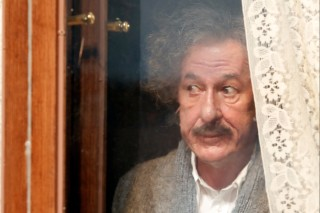 In this image released by National Geographic, Geoffrey Rush portrays Albert Einstein in the National Geographic miniseries,