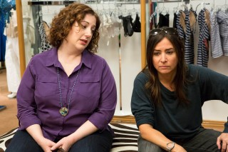 This image released by FX shows Rebecca Metz, left, and Pamela Adlon in a scene from