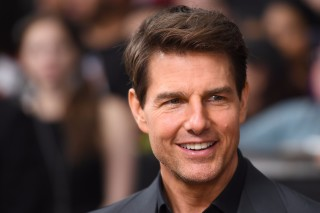 (FILES) This file photo taken on June 06, 2017 shows actor Tom Cruise attendsing 'The Mummy' New York Fan Event at AMC Loews Lincoln Square in New York City. Filming of