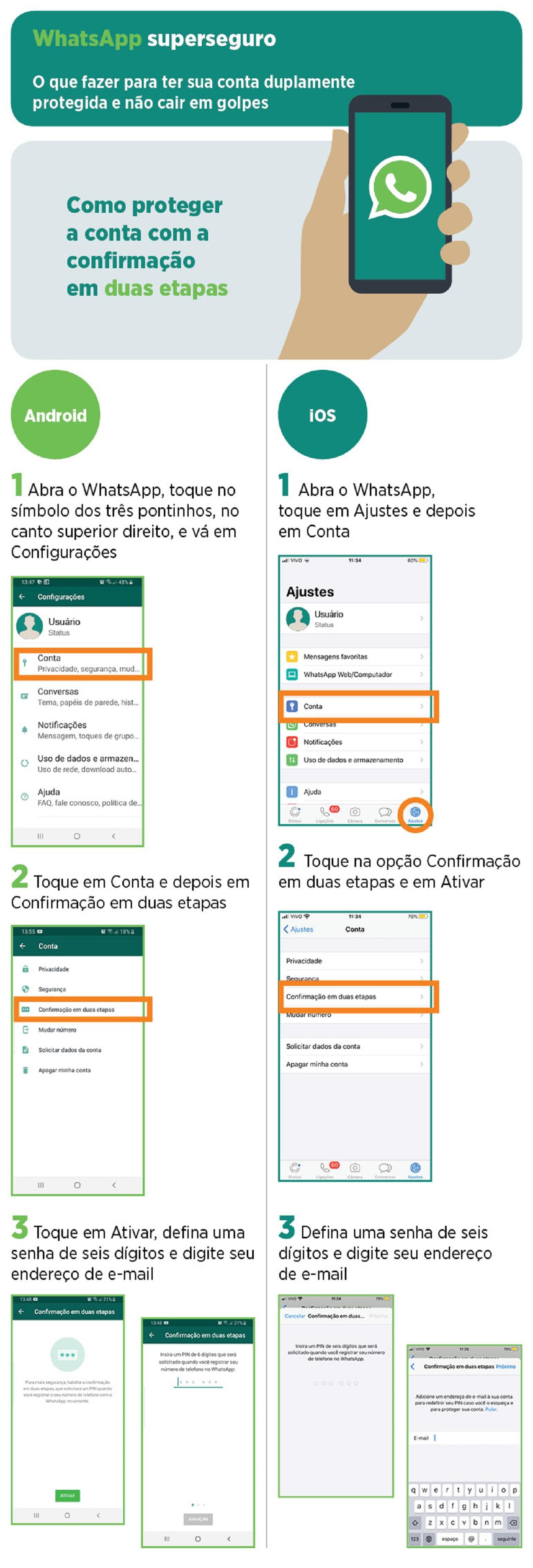 Saiba como deixar seu WhatsApp ainda mais seguro