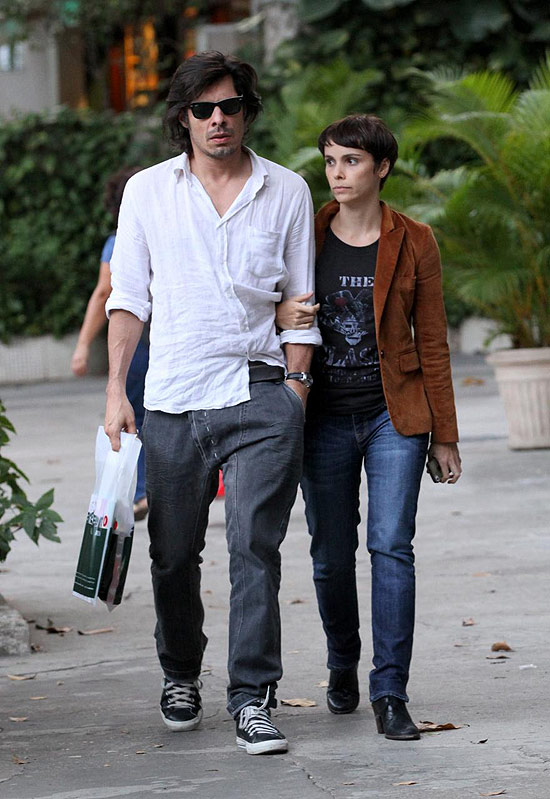 Débora Falabella e Daniel Alvim no Rio, pouco antes do rompimento