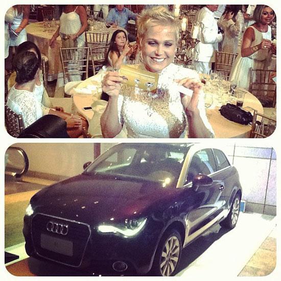 Xuxa posta foto com rifa e carrão da filha, Sasha
