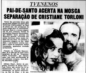 Profetas do NP prevêm fim de casamento de Cristiane Torloni