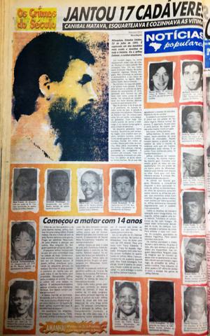 O 'Notícias Populares' contou o caso de Jeffrey Dahmer, o canibal americano, no dia 12 de setembro de 1993