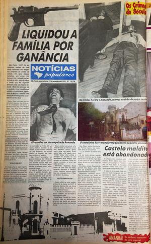 """No dia 22 de setembro, o """"NP"""" contou a história do playboy Álvaro César dos Reis, do Castelinho da rua Apa"""
