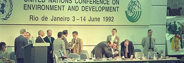 Encerramento da Eco-92, em 14 de junho de 1992