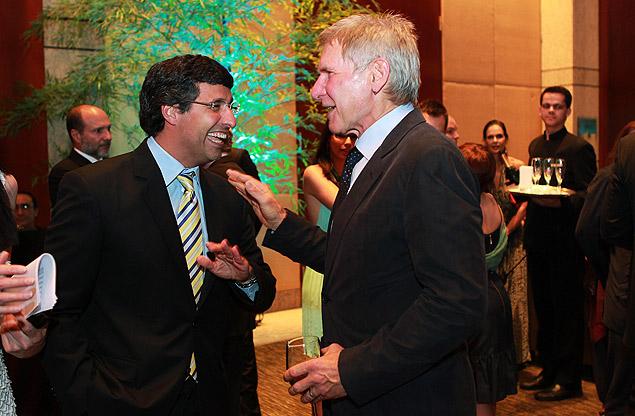 Harrison Ford e André Esteves, CEO do banco BTG Pactual