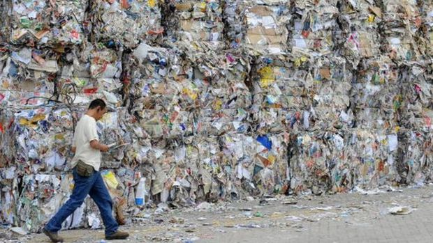 Só os EUA exportaram 13,2 milhões de toneladas de papel para a China no ano passado