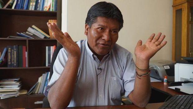 Víctor Hugo Vázquez, o governador do Departamento de Oruro