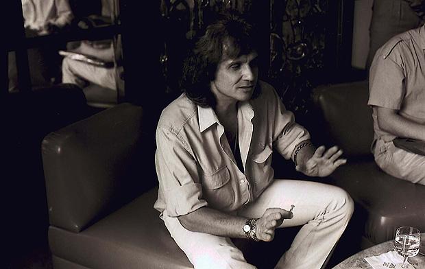 O cantor e compositor Roberto Carlos durante entrevista para a Folha, em dezembro de 1988