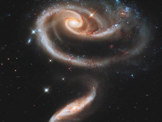 F5 Voce Viu Galaxias Formam Desenho De Rosa No Espaco Veja