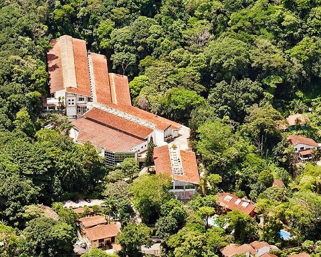 Vista aérea do Impa (Instituo de Matemática Pura e Aplicada), no Rio