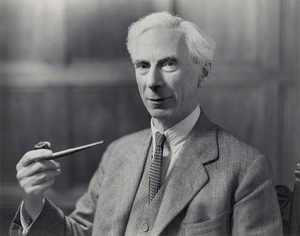 Bertrand Russell (1872-1970), ganhador do Prêmio Nobel de literatura em 1950