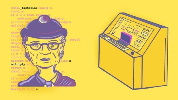 """Grace Hopper popularizou o termo """"debug"""" ao descrever um erro de sistema ap�s encontrar um pequeno inseto nas conex�es do seu computador"""