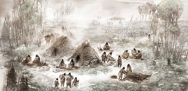 Ilustração de como era o local onde os restos do bebê foram encontrados