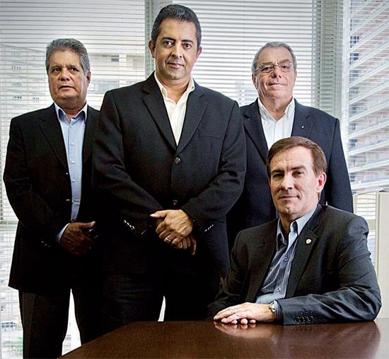 Da esq. para a dir. Nevoral Bucheroni, Danilo Antão, José Francisco Giannoni e Álvaro Camilo