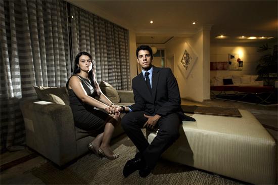 Dayane Souza e André Santos, que se casariam no Moinho Eventos; o casal conseguiu agendar a festa em outro local