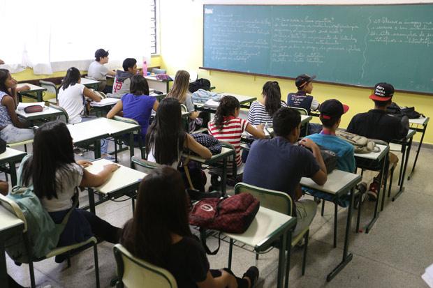 Escola estadual Antonio Vieira de Souza, em Guarulhos, na Grande São Paulo