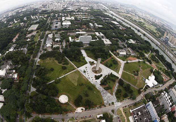 Vista aérea da USP (Universidade de São Paulo), em São Paulo (SP)
