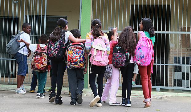 Escola Alfredo Schunk, no bairro Cipó do Meio, em Embu-Guaçu