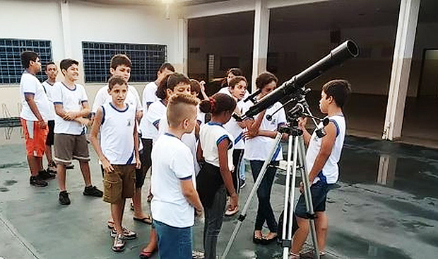 Clube de astronomia foi uma das iniciativas para engajar alunos