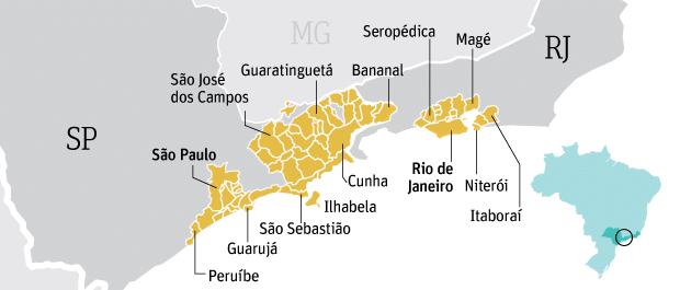 Pagina febre amarela carnaval mapa