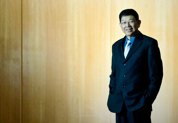 Retrato de Lee Sing Kong, feito durante o II Seminário Internacional de Práticas Inovadoras para Educação, realizado no hotel Renaissance, no bairro dos Jardins.