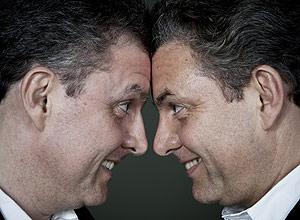 Alexandre (esq.) e Ricardo Ghelman, 48, médicos, sempre estudaram em escolas separadas