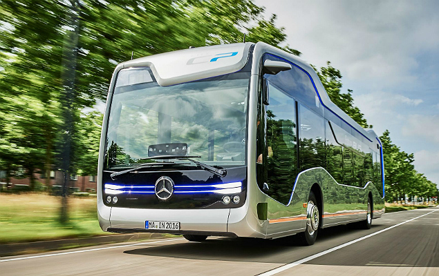 Future Bus, protótipo da Mercedes que dispensa motorista