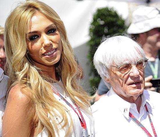 Petra e Bernie Ecclestone, em Monte Carlo