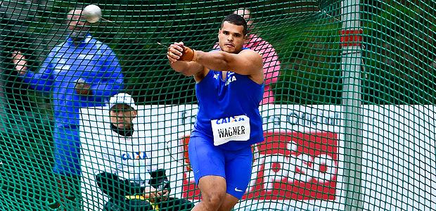 Walter Domingos, o Montanha, durante a disputa do Troféu Brasil de 2017