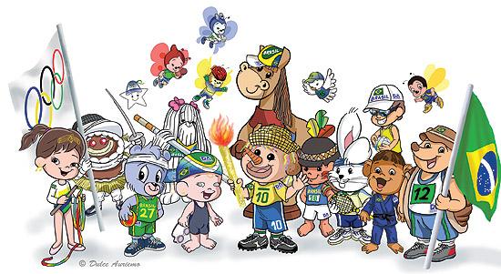 Personagens da Turminha do Espantaxim se vestem a caráter para o tema do concurso literário