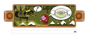 Doodle do Google em homenagem aos irmãos Grimm conta a história da Chapeuzinho Vermelho