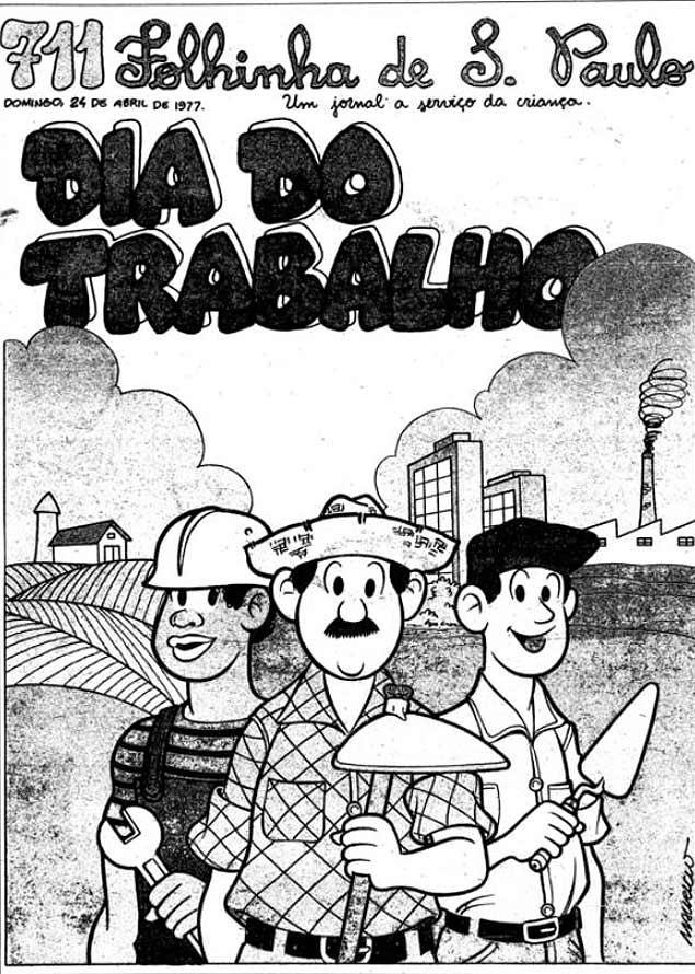 """Capa da """"Folhinha"""" de 24 de abril de 1977"""