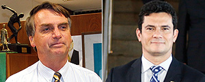 Jair Bolsonaro e Sergio Moro – Alan Marques/Pedro Ladeira/Folhapress