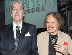 """Alcides Nogueira e Lygia Fagundes Telles, na festa de """"Ciranda de Pedra"""""""