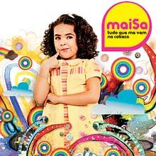 """Capa do disco """"Tudo Que Me Vem na Cabeça"""", da menina Maisa"""