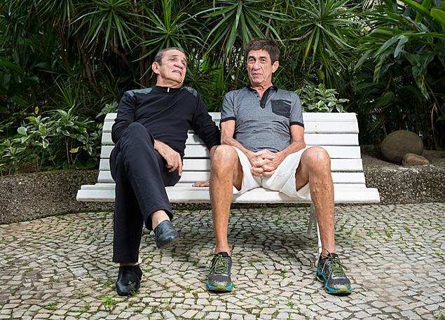 Zé Ramalho (à esq.) e Fagner durante entrevista, no Rio