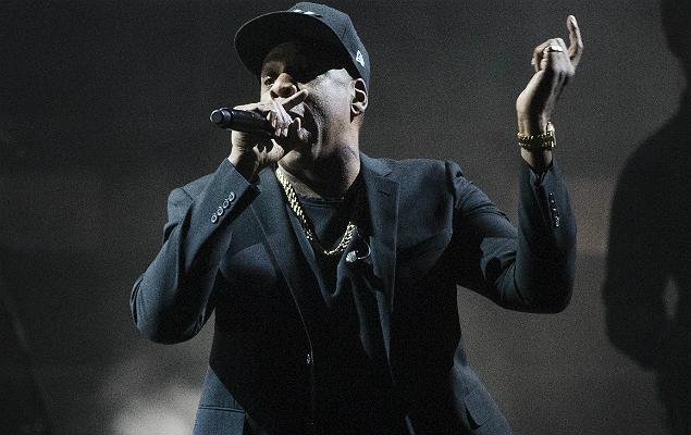 O rapper Jay-Z se apresenta em evento de campanha de Hillary Clinton, em 2016