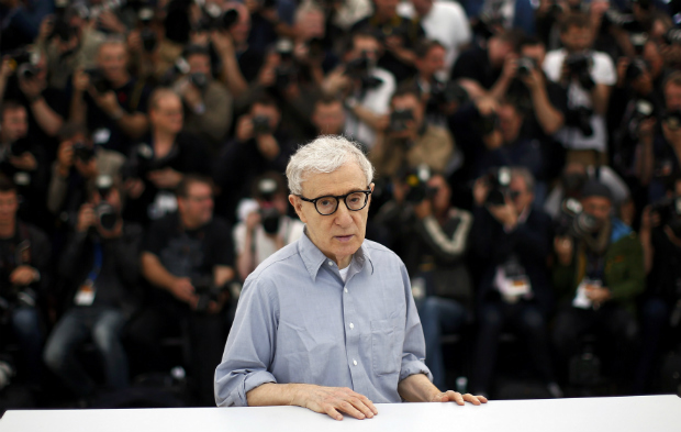 "Director Woody Allen poses during a photocall for the film ""Cafe Society"" out of competition, before the opening of the 69th Cannes Film Festival in Cannes, France, May 11, 2016"