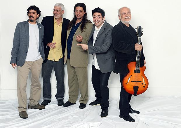 Neil Teixeira, Eloi Vicente, Leandro Freixo, Fabio Luna (o Quarteto do Rio) e Roberto Menescal