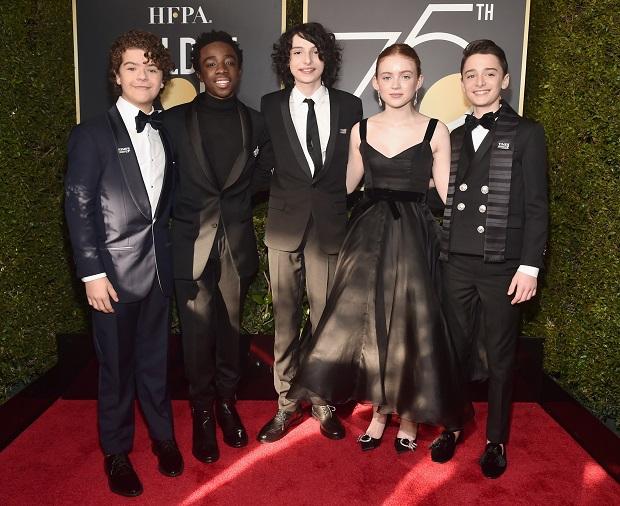 O elenco de Stranger Things no 75º do Globo de Ouro