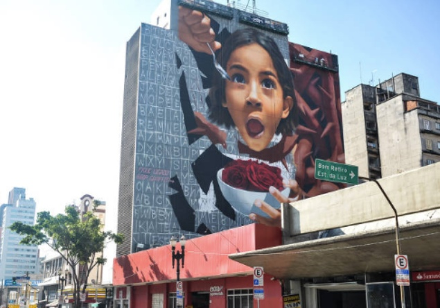 Mural by BIP in São Paulo